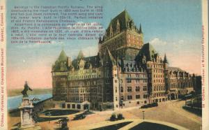 Chateau Frontenac and Champlain Monument - Quebec, Canada - WB