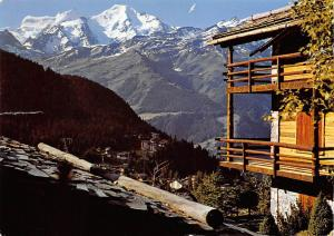 Switzerland Chalet de Verbier et Grand Combin Berg Mountain