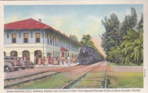 Florida Boca Grande S A L Railway Station & Arrival Of New York Special Touri...