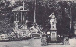 New York Auriesville Statue Of Saint Rene Goupil And Indian Boy In the Ravine...