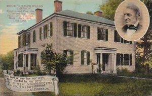 Massachusetts Emerson Home Of Ralph Waldo