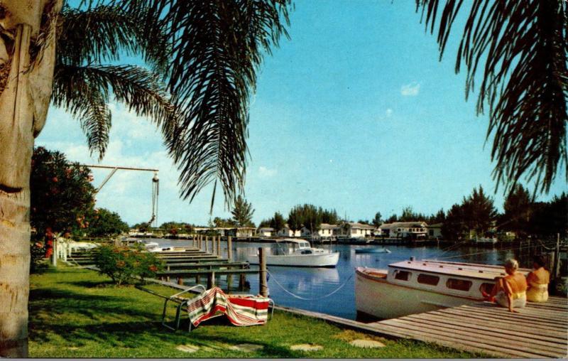 Florida Indian Rocks Beach Yacht Basin 1959