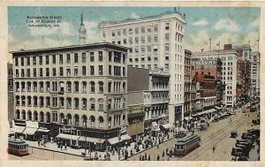 IN, Indianapolis, Indiana, Washington Street, Trolley, Indiana News