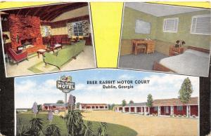 Dublin Georgia~Brer Rabbit Motor Court~Inside Out~Guest Room~Lobby~1940s Linen