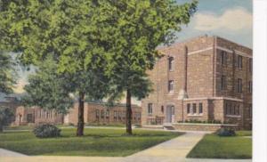 Wyoming Laramie Knight Hall University Of Wyoming 1957 Curteich