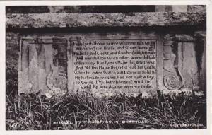 RP, Tomb Inscription In Churchyard, Berkeley (Gloucestershire), England, UK, ...