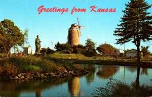 Kansas Greetings Showing The Old Mill In Wamego