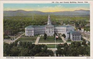 Colorado Denver City And County Building Adjoining Civic Center On The West