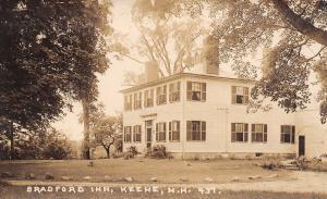 Keene New Hampshire~Bradford Inn~Front & Back Door~1917 Real Photo Postcard~RPPC