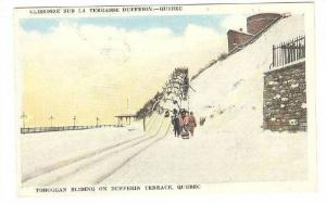 Toboggan Sliding on Dufferin Terrace , Quebec , Canada , 00-10s