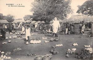 Dahomey Benin A.O.F. Un Marche (Abomey) Market Commerce