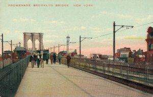 USA Promenade Brooklyn Bridge New York 03.80