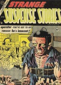 Strange Suspense Stories 1950s Comic Death Sentence Electric Chair Postcard