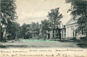 1907 Haydenville Massachusetts Postcard: Main Street from American News Co.