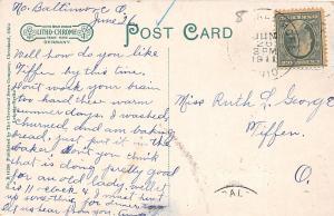 F27/ North Baltimore Ohio Postcard 1911 Church of Christ