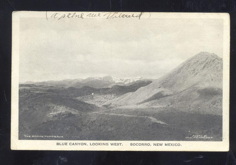 SOCORRO NEW MEXICO BLUE CANYON LOOKING EAST VINTAGE POSTCARD N.M.