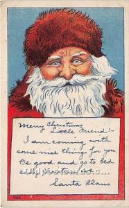 Santa Claus Postcard Old Vintage Christmas Post Card Unused