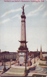 Indianapolis IN - SOLDIERS AND SAILORS MONUMENT 1900s