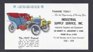 Ca 1960 BLOTTER MINT INDUSTRIAL SUPPLY SERVICE SHOWS 1907 DETROIT, BRIDGEPORT CT