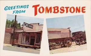 Arizona Tombstone  Greetings From Tombstone Ok Corral Scene Of The Earp Clant...