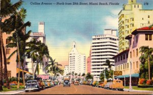Florida Miami Beach View Along Collins Avenue North From 29th Street