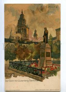 190616 GERMANY MAINZ Gutenberg denkmal GRAF Vintage postcard