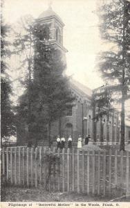 Frank Ohio~Sorrowful Mother Pilgrimage in Woods~Ladies in Yard~Shrine~1922 B&W
