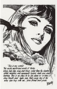 Vampire Bats Control You In Misty Girls 1970s Horror Comic Postcard