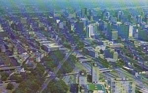 Pennsylvania Philadelphia Aerial View Looking Down Benjamin Franklin Parkway