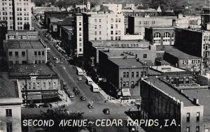 Second Avenue, Cedar Rapids, Iowa, Early Postcard, Unused