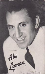 Vintage Mutoscope Card Abe Lyman