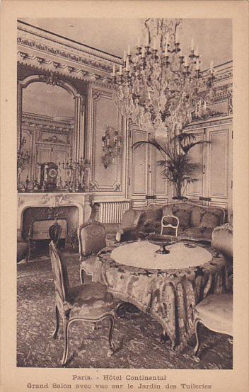 PARIS, France, 1900-1910´s; Hotel Continental, Grand Salon ...
