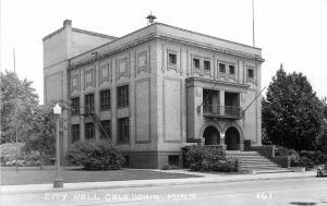 Caledonia Minnesota City Hall 1940s RPPC Photo Postcard Cook 13228