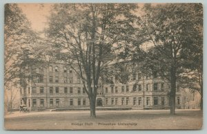 Brooklyn New Jersey~Hodge hall Princeton University~1940s Linen Postcard