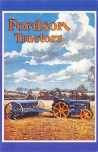 Nostalgia Postcard 1937 FORDSON TRACTORS Catalogue Advertisement Repro Card NS1