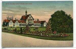 Bath House Sanatorium Rotorua New Zealand 1910c postcard