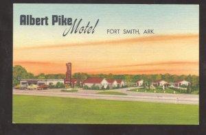 FORT SMITH ARKANSAS ALBERT PIKE MOTEL VINTAGE LINEN ADVERTISING POSTCARD