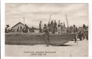 CAMP LEE, Virginia, 1900-1910´s; Pontoon Bridge Building