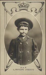 Italy Prince - SAR Il Principe Umerto c1910 Real Photo Postcard