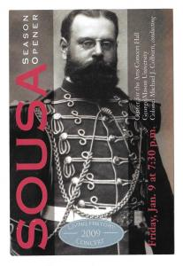 Modern Advertising Postcard US Marine Band Sousa Concert 4X6