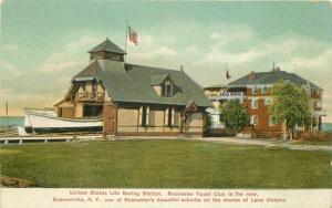 C-1910 United States Life Saving Station Rochester New York Yacht Postcard 5742