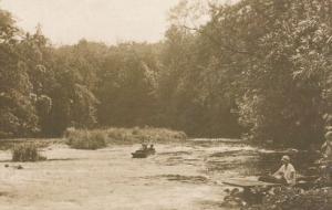 Knaresborough Yorkshire Conyngham Hall Boat Speed Rapids Large Postcard