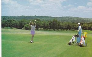 Female Golfer , Golf Course , Marble Falls , Texas , 40-60s