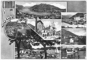 COMO, eil suo Lago, unused real photo vera fotografia Postcard