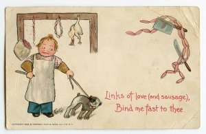 Postcard Links of Love (and sausage) Raphael Tuck & Sons 1903 Standard View Card