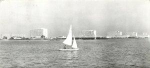Postkarte Romania Mamaia vazuta de pe Siut-Ghiol sailing boat