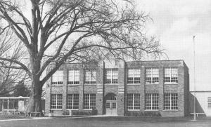 Holton Michigan~High School~1960s B&W Postcard