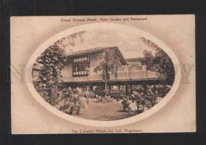 077937 Grand Oriental Hotel Colombo Ceylon telegrams blank PC