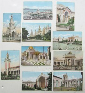 LOT of 10 ANTIQUE PANAMA PACIFIC INTERNATIONAL EXPOSITION 1915 POSTCARDS