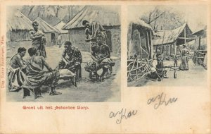 Ghana Gold Coast Ashanti Village natives ethnic Postcard